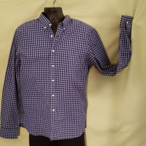 J Crew blue on blue Gingham button down